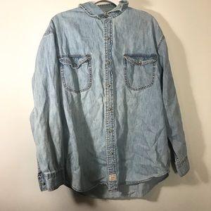 MENS LEVIS • Denim Button Up Shirt | 2XL
